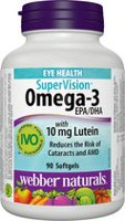 Webber Naturals® Omega-3 SuperVision®, with 10 mg Lutein Daily, 90 softgels