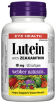 Webber Naturals® Lutein with Zeaxanthin, 10 mg, 60 softgels