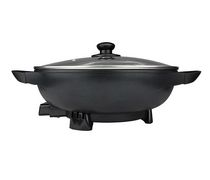 Brentwood 13-Inch Non-Stick Flat Bottom Electric Wok Skillet