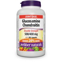 Capsules glucosamine chondroïtine sulfates Extra-Fort 500/400 mg de Webber NaturalsMD