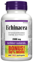 Webber Naturals® Echinacea, Standardized Herb Extract, 2100 mg, 90 softgels BONUS! 50% More
