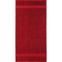 Safdie & Co. Bath Towel Dobby Border 10PC Red