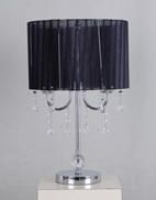 Home Trends Black Chandelier Table Lamp