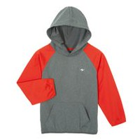Athletic Works Boys' Popover Hoody Grey L