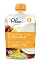 Plum® Organics Cherry, Sweet Corn & Greek Yogurt Baby Food - 128mL