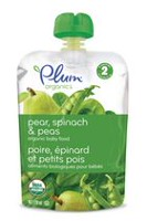Plum® Organics Pear, Spinach & Peas Baby Food - 128mL