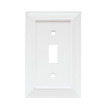 Wood Architectural Single Switch WH
