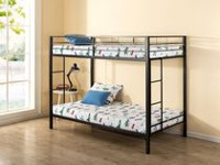 Zinus Under 1 Hr Assembly Quick Lock Metal Bunk Bed