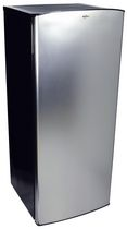 Koolatron 6.2 Cubic Foot (176 Liters) Stainless Steel Refrigerator with Freezer Compartment