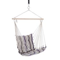Outsunny Portable Hanging Woven Hammock Seat Rope Swing Chair Sleeping Bed for Outdoor Garden Yard Camping Brown