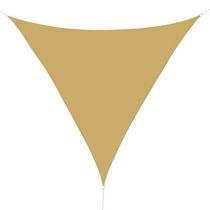 Outsunny Triangle 13x13x13ft Sun Sail Shade Garden UV Block Sunshade Outdoor Canopy Patio Lawn Shelter (Sand)