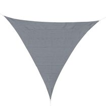 Outsunny Triangle 10' Canopy Sun Sail Shade Garden Cover UV Protector Outdoor Patio Lawn Shelter with Carrying Bag Grey
