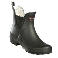 Canadiana Women's Checkers Rain Booties 6