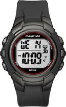 Marathon® By Timex® Black/Red Case and Black Resin Strap Digital Full-Size Watch
