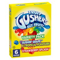 Fruit Gushers Gluten Free Fruit Flavoured Snacks - Variety Pack