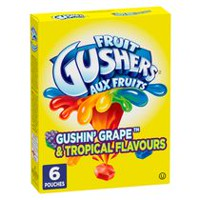 Fruit Gushers Gluten Free Gushin Grape and Tropical Flavours