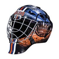 Masque de gardien de but des Oilers de Edmonton de la NHL de Franklin Sports