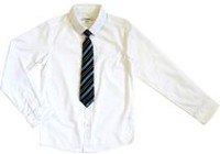 George Boys' Long Sleeve Dress Shirt with Tie L