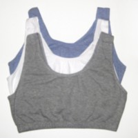 Fruit of the Loom, Built Up Sports Bra Grey 44