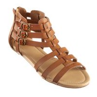 George Women's Gladiator Sandal Brown 9