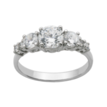Sterling Silver Cubic Zirconia 7-stone Ring