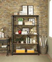 ACME Itzel Bookshelf in Antique Oak & Sandy Gray