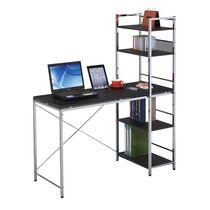 ACME Elvis Computer Desk with Shelves in Black & Chrome