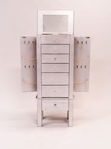Hives & Honey Hannah Jewelry Armoire - Silver