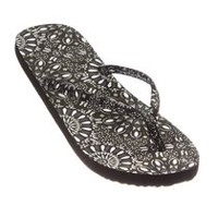 George Women's Floral Flip Flop Black 7