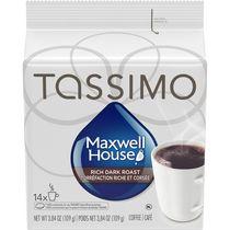 Disques individuels T DISC de café de torréfaction riche et corsée Maxwell House Tassimo