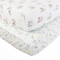 Disney Multi Character, Natures Beginnings, 2-pack Fitted Crib Sheets