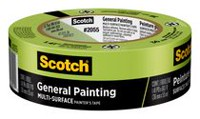 Scotch® 36 mm x 55 m Green Masking Tape for Professional Painting