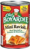 Chef Boyardee® Mini Ravioli Beef Ravioli In Tomato and Meat Sauce