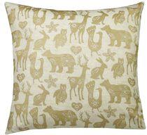 Ivory Park Animal Farm Gold Decorative Throw Cushion