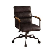 ACME Harith Executive Office Chair in Antique Slate Top Grain Leather