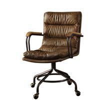 ACME Harith Executive Office Chair in Vintage Whiskey Top Grain Leather