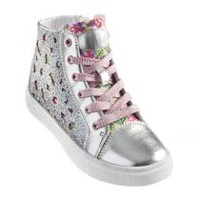 George Girls' Jenny Glitter High Top Sneaker 12