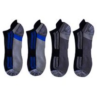 Athletic Works Men's 4-Pair No Show Liner Socks