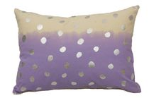 Ivory Park Two Tone Lavendar & Silver Foil Decorative Throw Cushion