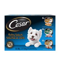 CESAR Poultry Selects Wet Food for Small Dogs