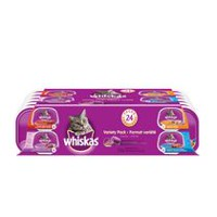 Whiskas Recloseable Wet Food Trays Recloseable Tray 24 Variety Pack
