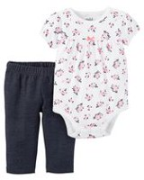 Child of Mine made by Carter's Infant Girls' Body Suit Pant Floral Set 12 months