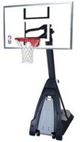 "Spalding® The Beast® Glass 60"" Backboard Portable Basketball System"