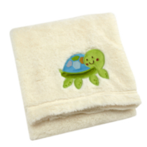 Cuddle Blanket White Turtle