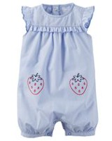 Child of Mine made by Carter's Baby Girls' Stripe Romper 12M