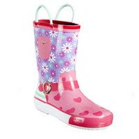 Weather Spirits Toddler Grils' Flower Rain Boots 12