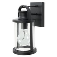 Globe Electric Newbury 1-Light Black Outdoor Wall Sconce