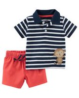 Child of Mine made by Carter's Baby Boys' 2 Piece Monkey Printed Outfit Set 18 months