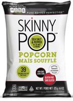 SkinnyPop Gluten Free Sea Salt and Pepper Popcorn