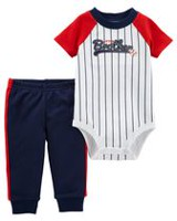 Child of Mine made by Carter's Infant Boys' Body Suit Pant Set-Little Brother 3-6 months